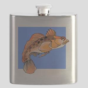 Orange Ocean Fish Flask