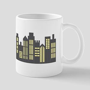 Night Skyline Mugs