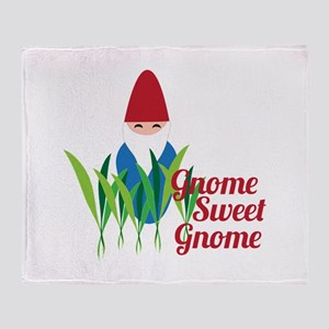 Gnome Sweet Gnome Throw Blanket