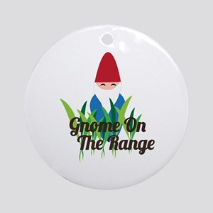Gnome On The Range Ornament (Round)