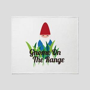 Gnome On The Range Throw Blanket