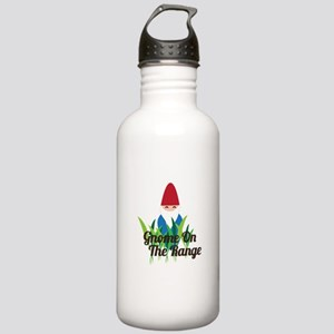 Gnome On The Range Water Bottle