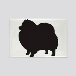 pomeranian black 3 Magnets