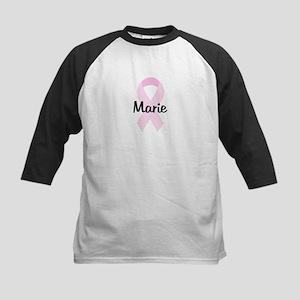 Marie pink ribbon Kids Baseball Jersey