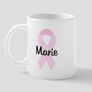 Marie pink ribbon Mug