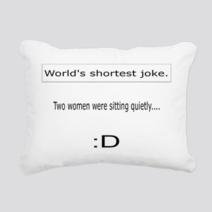Two women Rectangular Canvas Pillow