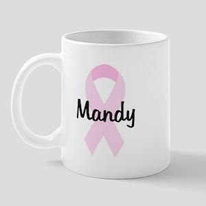 Mandy pink ribbon Mug