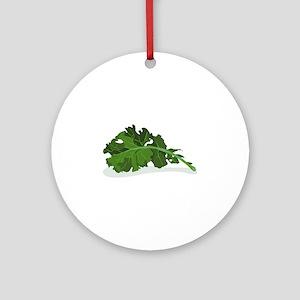 Kale Leaf Ornament (Round)