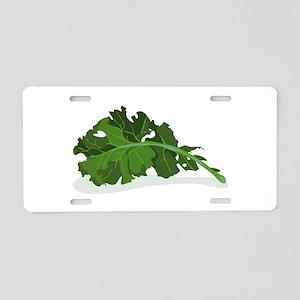 Kale Leaf Aluminum License Plate