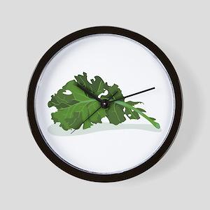 Kale Leaf Wall Clock