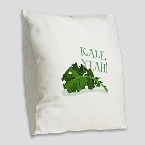 Kale Yeah Burlap Throw Pillow