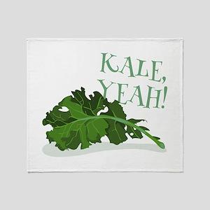 Kale Yeah Throw Blanket