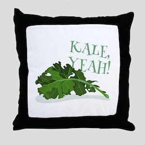 Kale Yeah Throw Pillow