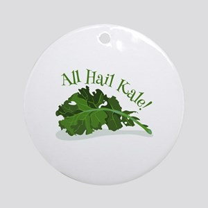 Hail Kale Ornament (Round)