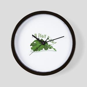 Hail Kale Wall Clock