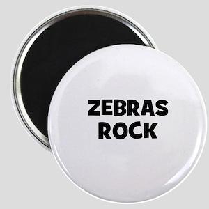"""zebras rock 2.25"""" Magnet (10 pack)"""