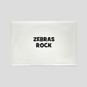 zebras rock Rectangle Magnet