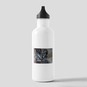 Blue Eyed Kitten Stainless Water Bottle 1.0L