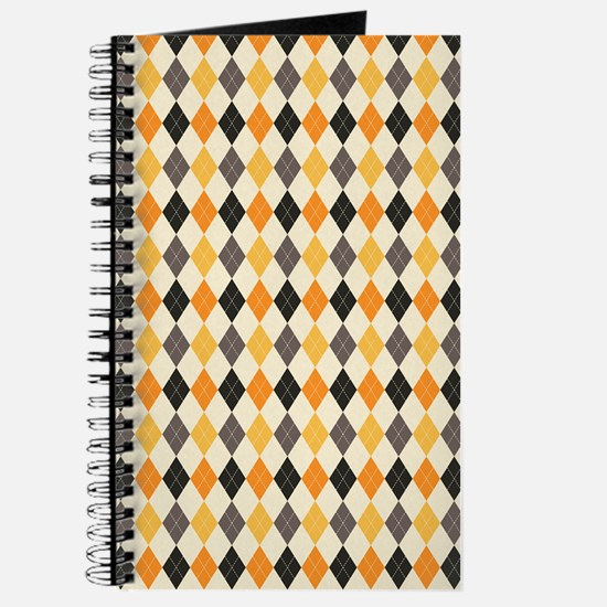 Halloween Argyle Pattern Journal