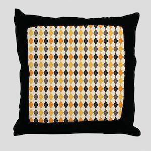 Halloween Argyle Pattern Throw Pillow