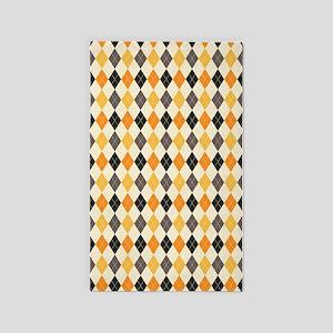 Halloween Argyle Pattern 3'x5' Area Rug