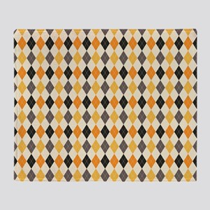 Halloween Argyle Pattern Throw Blanket