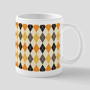 Halloween Argyle Pattern Mugs