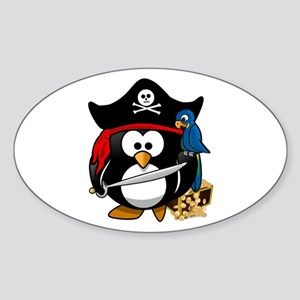 Cute Pirate Captain Penguin Sticker