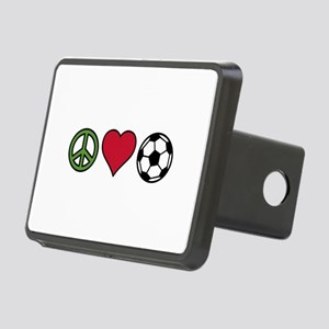 Peace Love Soccer Hitch Cover
