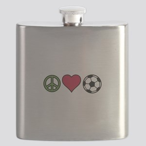 Peace Love Soccer Flask