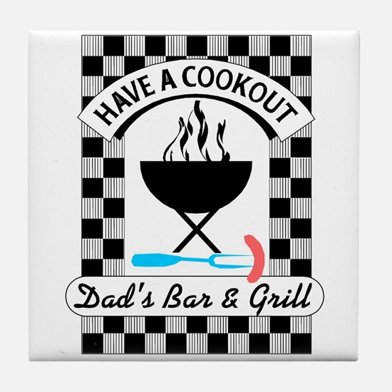 Cookout Tile Coaster