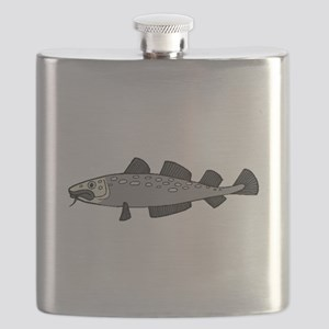 Grey Spotted Fish Flask