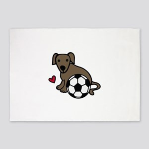 Soccer Puppy 5'x7'Area Rug
