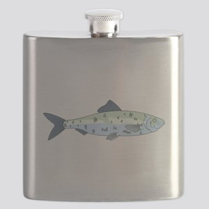 Blue Spotted Fish Flask