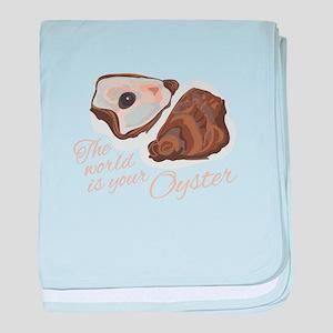 World Oyster baby blanket