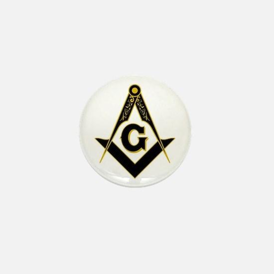 Masonic Black Mini Button