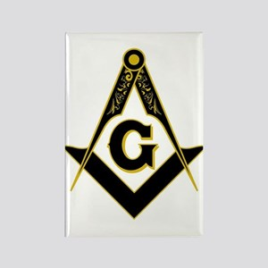 Masonic Black Rectangle Magnet