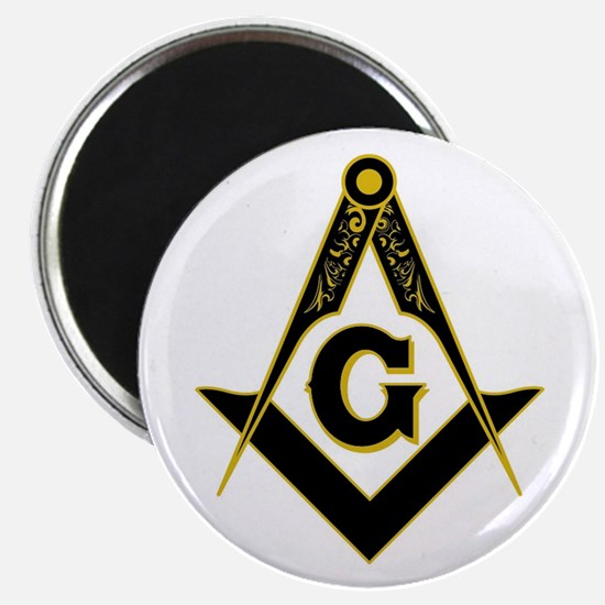 """Masonic Black 2.25"""" Magnet (10 pack)"""