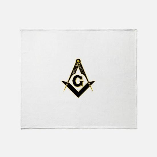 Masonic Black Throw Blanket