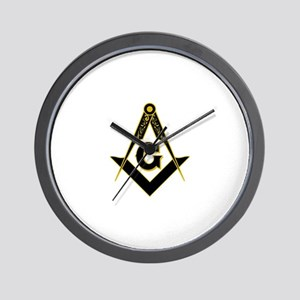 Masonic Black Wall Clock