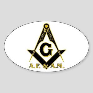 Masonic A.F. & A.M. Sticker (Oval)