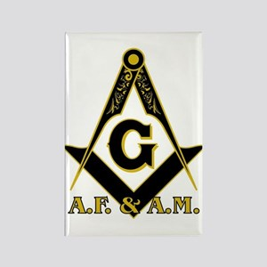Masonic A.F. & A.M. Rectangle Magnet