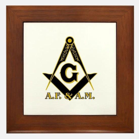 Masonic A.F. & A.M. Framed Tile