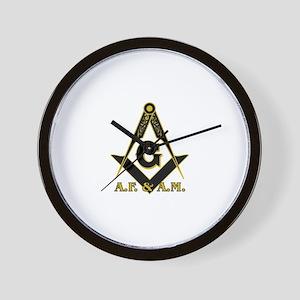 Masonic A.F. & A.M. Wall Clock
