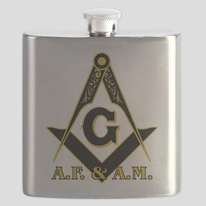 Masonic A.F. & A.M. Flask