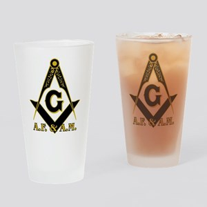Masonic A.F. & A.M. Drinking Glass