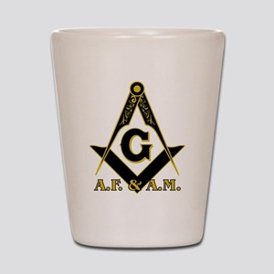 Masonic A.F. & A.M. Shot Glass