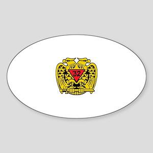 Scottish Rite Eagle Sticker (Oval)