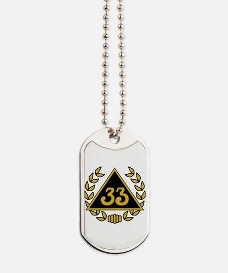 33rd Degree Wreath Dog Tags