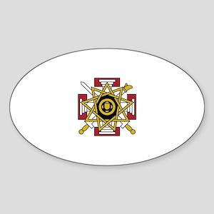 33rd Degree Jewel Sticker (Oval)